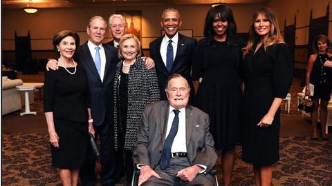 美國4位總統、4位第一夫人合影