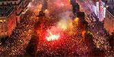法國奪冠後狂歡失控 警方高壓水槍驅散球迷