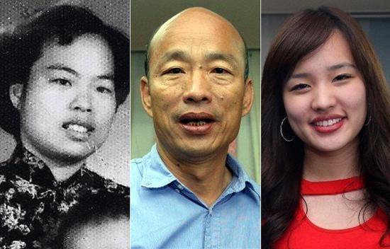 臉書粉絲專頁分享了一張韓國瑜小時候與父母的合照,意外讓韓媽媽(左)長相曝光。韓國...