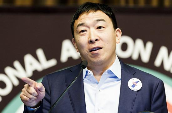 華裔參選人楊安澤。 歐新社