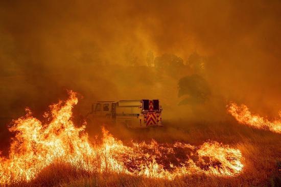 加州野火。美联社