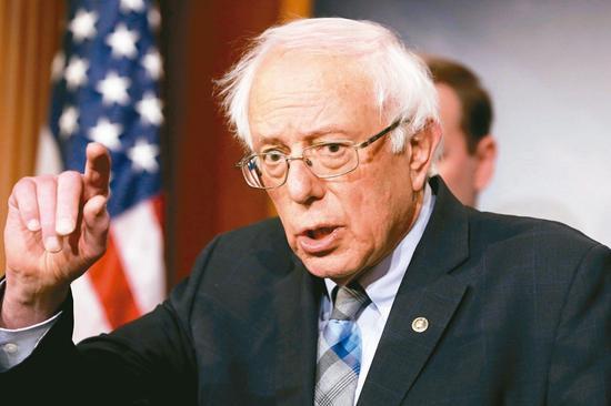 美國佛蒙特州無黨籍聯邦參議員桑德斯十九日宣佈,將參加二○二○年美國總統大選。 (路透)