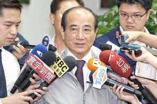 争取国民党总统提名的立法院前院长王金平上午在立法院镇江会馆接受媒体访问。联合报系资料照片/记者林伯东摄影