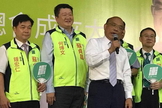 蘇貞昌去年參選新北市長,何博文表示,過去不管在媒體、在造勢場合、掃街、站臺演講,...