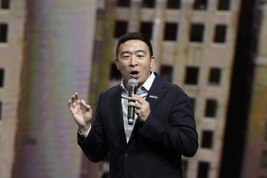 民主黨華裔總統參選人楊安澤認爲,對川普總統的彈劾調查,可能削弱民主黨候選人的勝選機會。 美聯社