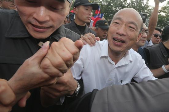 國民黨總統參選人韓國瑜蟬連十大新聞人物冠軍。 聯合報系資料照片/記者黃仲裕攝影