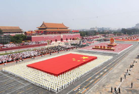 10月1日上午,慶祝中華人民共和國成立70週年大會在北京天安門廣場隆重舉行。(翟健嵐 攝)