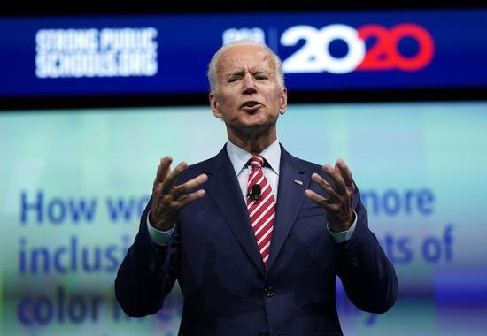 白登公布税表,过去两年共进帐1500万元,是民主党总统主要参选人中最富者 美联社