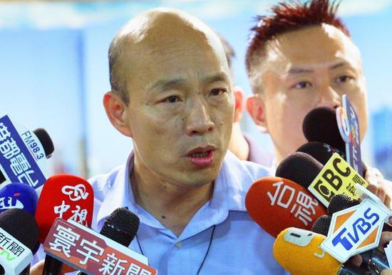 高雄市长韩国瑜电视专访,谈到赖清德参选总统,认为赖会坚持台独,但台独比梅毒还可怕, 本报资料照片/记者刘学圣摄影