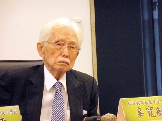 台湾制宪基金会董事长辜宽敏表示,赖清德登记民进党总统初选前,致电给他,请他不要再...
