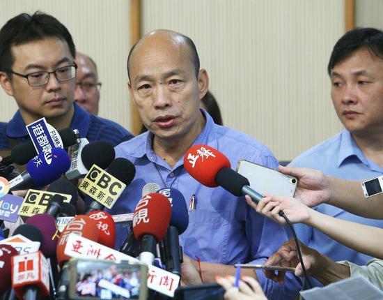国民党主席吴敦义宣布不选2020,高市长韩国瑜今在波士顿受访表示,现在不谈这个,...