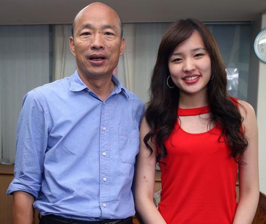 高市長韓國瑜與女兒韓冰(右)。圖/本報系資料照片