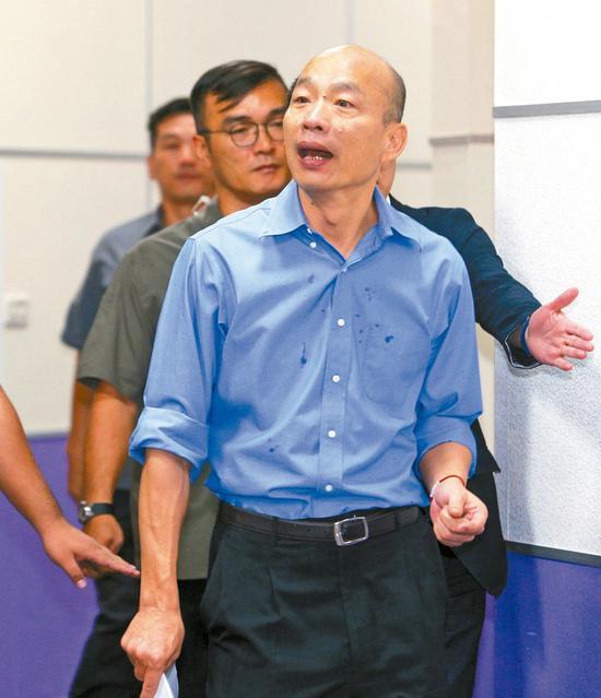 國民黨規劃7月7日下午3時在總統府前辦「反鐵籠公投凱道大會師」抗議活動。圖爲高雄市長韓國瑜。 圖/聯合報系資料照片