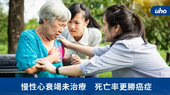 慢性心衰竭未治療 死亡率更勝癌症