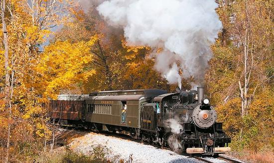 美国宾州艾弗里特铁路公司修复一列拥有近百年历史的蒸汽火车 图/取自Everett Railroad官网