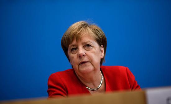 德国总理梅克尔。 欧新社