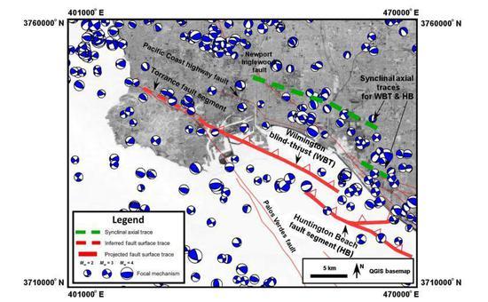 專家發現洛杉磯港地下「沉睡」地震斷層有甦醒跡象。圖擷自/U.S. Geologi...