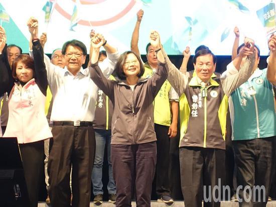 民進黨啓動選前巡迴造勢 蔡英文:今年的選舉很詭譎