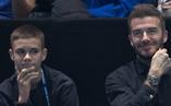 貝克漢姆攜兒子觀戰ATP總決賽