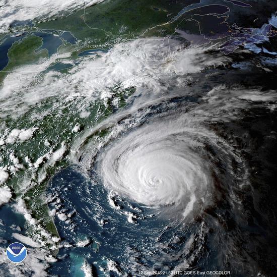 佛羅倫斯颶風來勢洶洶。 美聯社