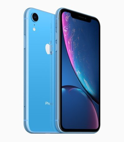 iPhone XR共有白色、黑色、藍色、黃色、珊瑚色、Product(Red),即將於26日上市,今天開放預購。 圖/蘋果提供