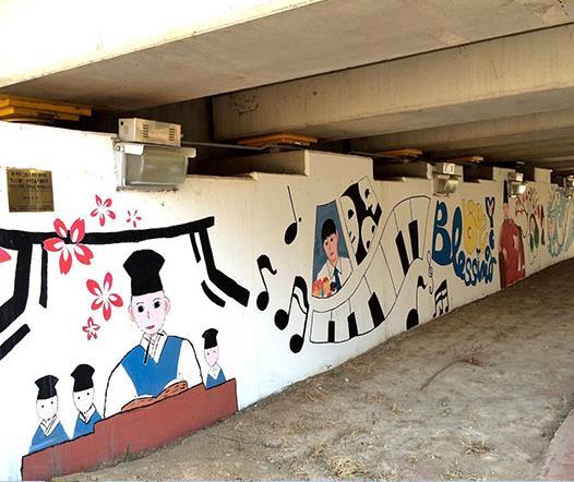 朴有天主题壁画被拆 曾由粉丝集资3万余人民币建