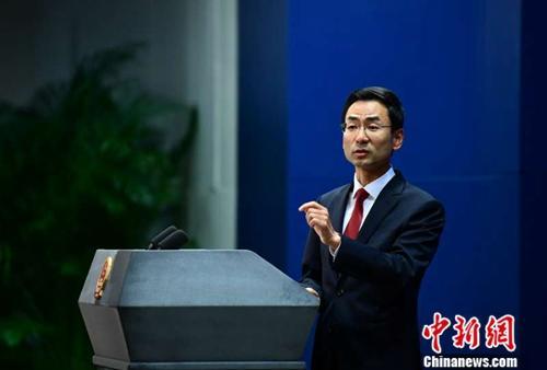 資料圖:中國外交部新聞發言人耿爽 (圖片來源:中新網)