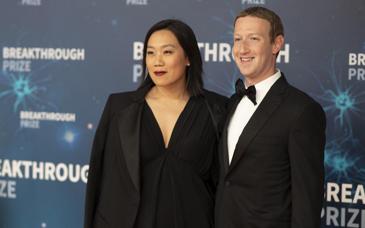 扎克伯格与妻子陈。(图片来源:美联社资料图)